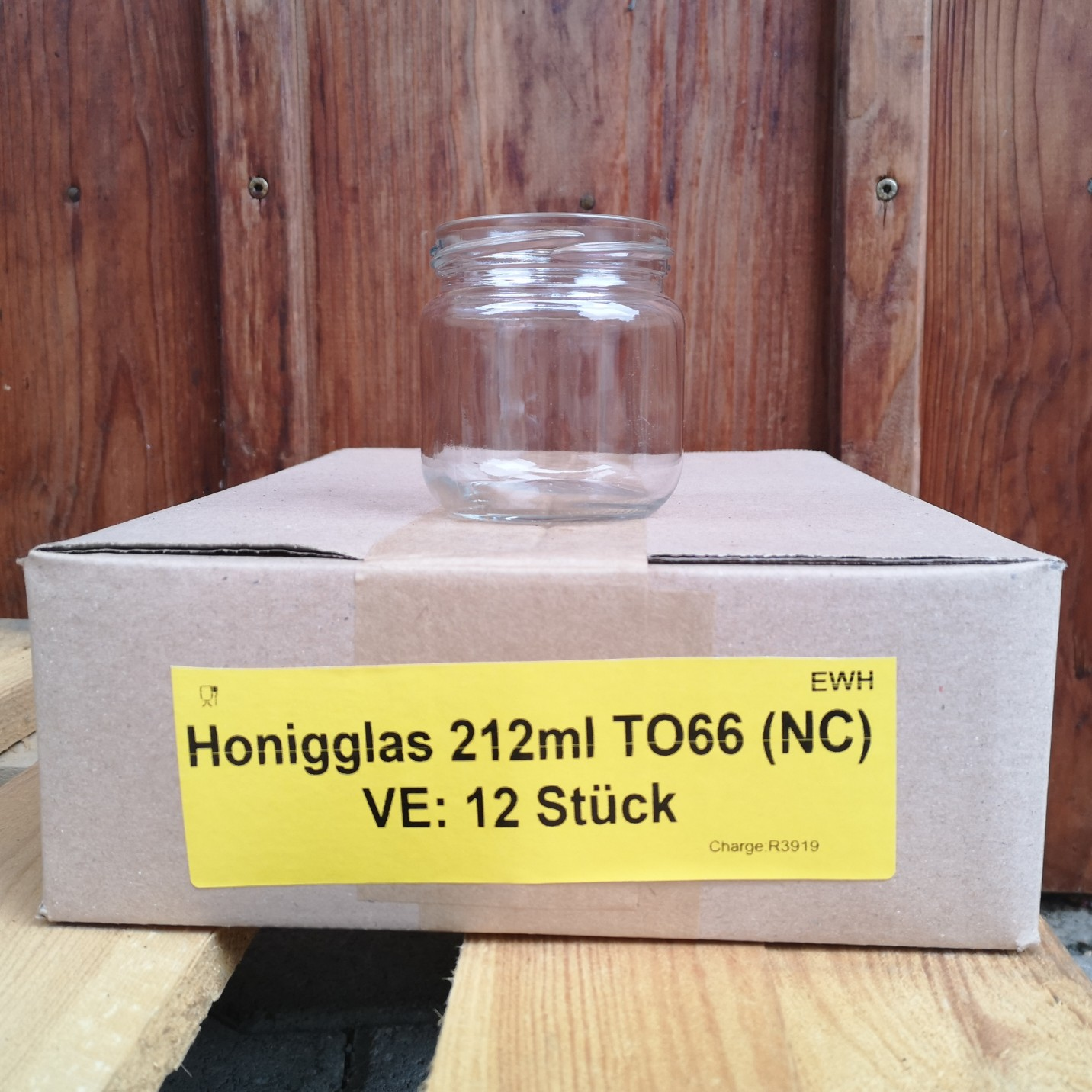 Rundglas Karton 212ml (To66) ohne Deckel EW